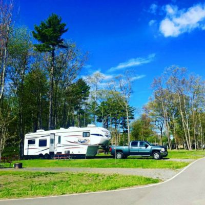 camping at Hidn Pines Premium Plus Section