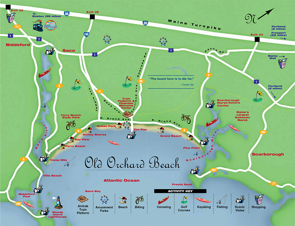Old Orchard Beach Maine - Directions and Maps